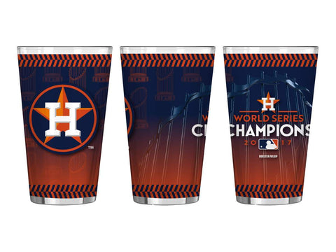 Houston Astros 2017 World Series Champions Boelter Sublimated Pint Glass (16oz)