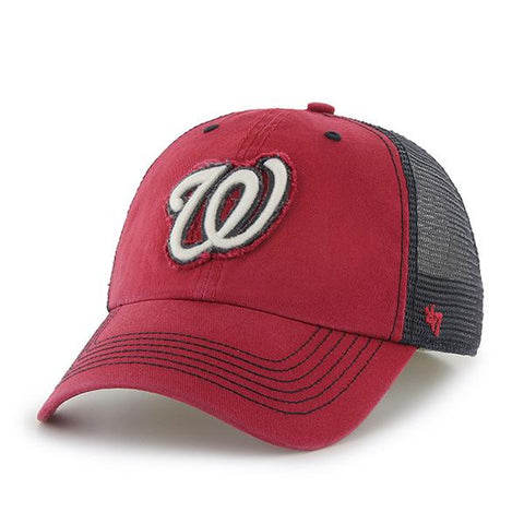 Washington Nationals 47 Brand Red Navy Taylor Closer Mesh Stretch Fit Hat Cap