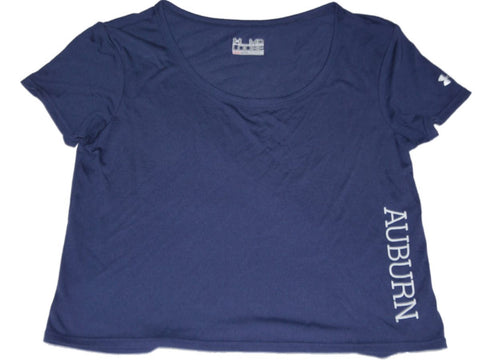 Auburn Tigers Under Armour Women Navy Loose HeatGear Crop Top Dance T-Shirt (M)