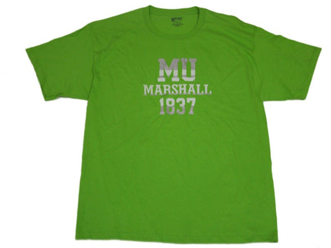 Shop Marshall Thundering Herd Gear for Sports Lime Green 1837 Cotton T-Shirt (L)