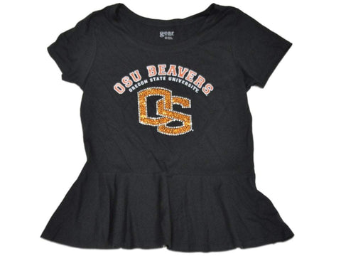 Shop Oregon State Beavers Gear for Sports Women Black Peplum Bling T-Shirt (M)