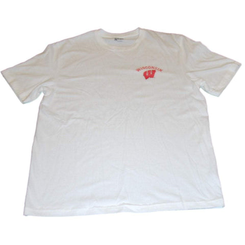 Wisconsin Badgers Gear for Sports White Large Back Logo Soft Cotton T-Shirt (L)
