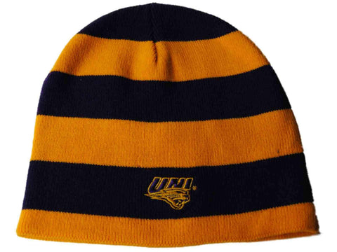 Shop Northern Iowa Panthers The Game Purple Yellow Striped Reversible Beanie Hat Cap - Sporting Up