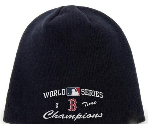 Shop Boston Red Sox 47 Brand 8 Times World Series Champions Navy Hat Cap Beanie - Sporting Up