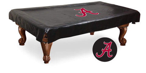 "Shop Alabama Crimson Tide Black Vinyl ""A"" Billiard Pool Table Cover"