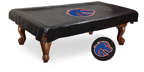Boise State Broncos HBS Black Vinyl Billiard Pool Table Cover