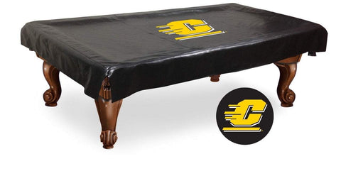 Central Michigan Chippewas Black Vinyl Billiard Pool Table Cover - Sporting Up