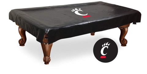 Cincinnati Bearcats HBS Black Vinyl Billiard Pool Table Cover