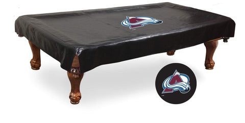 Colorado Avalanche HBS Black Vinyl Billiard Pool Table Cover