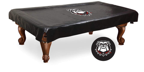 Georgia Bulldogs Black Vinyl Dog Logo Billiard Pool Table Cover