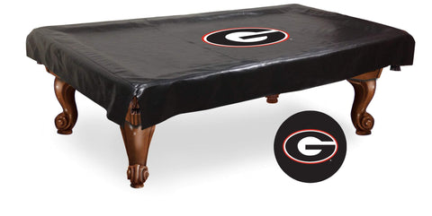 "Georgia Bulldogs Black Vinyl ""G"" Logo Billiard Pool Table Cover"