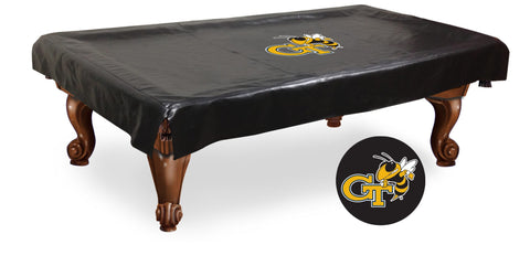Georgia Tech Yellow Jackets Black Vinyl Billiard Pool Table Cover
