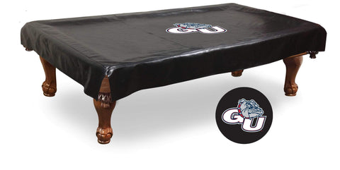 Gonzaga Bulldogs HBS Black Vinyl Billiard Pool Table Cover