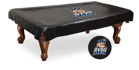 Grand Valley State Lakers Black Vinyl Billiard Pool Table Cover