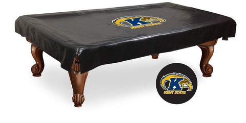 Kent State Golden Flashes Black Vinyl Billiard Pool Table Cover - Sporting Up