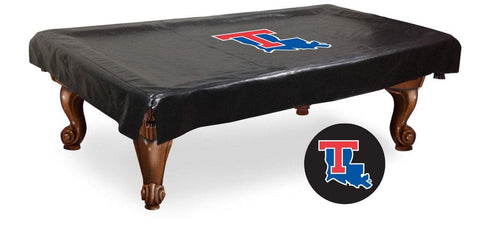 Louisiana Tech Bulldogs HBS Black Vinyl Billiard Pool Table Cover