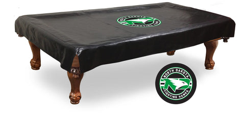 North Dakota Fighting Hawks Black Vinyl Billiard Pool Table Cover