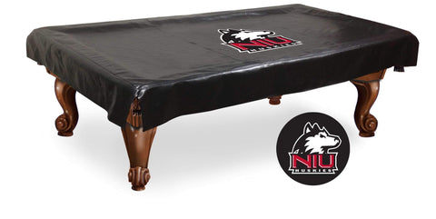 Northern Illinois Huskies Black Vinyl Billiard Pool Table Cover