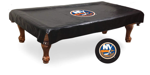 New York NY Islanders HBS Black Vinyl Billiard Pool Table Cover