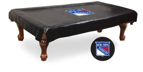 New York NY Rangers HBS Black Vinyl Billiard Pool Table Cover