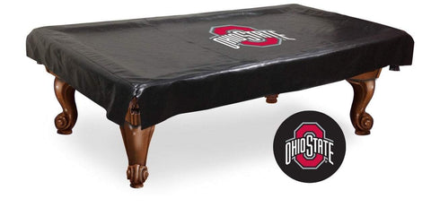 Ohio State Buckeyes HBS Black Vinyl Billiard Pool Table Cover