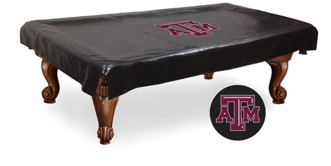 Shop Texas A&M Aggies HBS Black Vinyl Billiard Pool Table Cover - Sporting Up