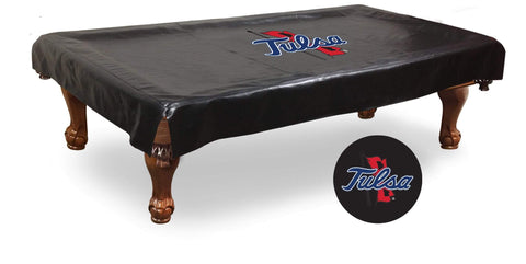 Tulsa Golden Hurricane HBS Black Vinyl Billiard Pool Table Cover
