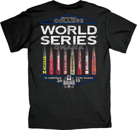 "2019 NCAA Men's College World Series CWS 8 Team ""Best Bats"" Gray T-Shirt"