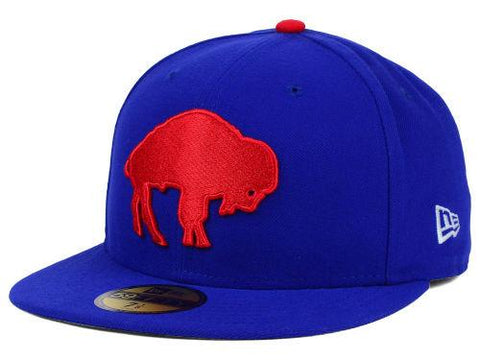 Buffalo Bills New Era NFL On Field 59Fifty Blue Red Fitted Hat Cap