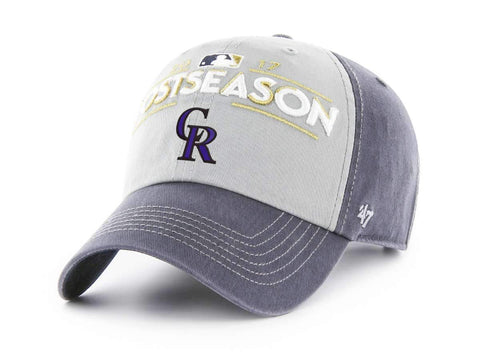 Colorado Rockies 47 Brand 2017 Postseason Locker Room MLB Playoffs Adj Hat Cap