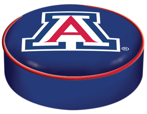 Shop Arizona Wildcats HBS Navy Vinyl Elastic Slip Over Bar Stool Seat Cushion Cover
