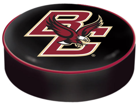 Shop Boston College Eagles HBS Black Vinyl Slip Over Bar Stool Seat Cushion Cover