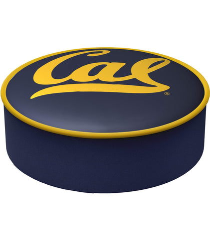 Shop California Golden Bears HBS Navy Vinyl Slip Over Bar Stool Seat Cushion Cover