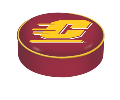 Central Michigan Chippewas HBS Red Vinyl Slip Over Bar Stool Seat Cushion Cover - Sporting Up