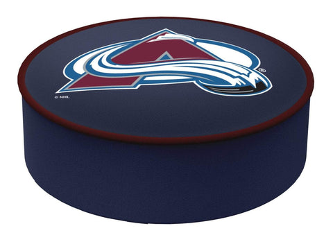 Colorado Avalanche HBS Navy Vinyl Elastic Slip Over Bar Stool Seat Cushion Cover