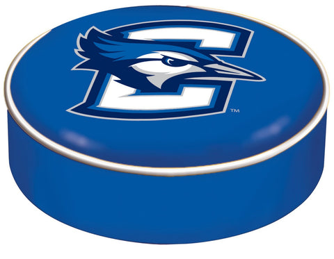 Creighton Bluejays HBS Blue Vinyl Elastic Slip Over Bar Stool Seat Cushion Cover