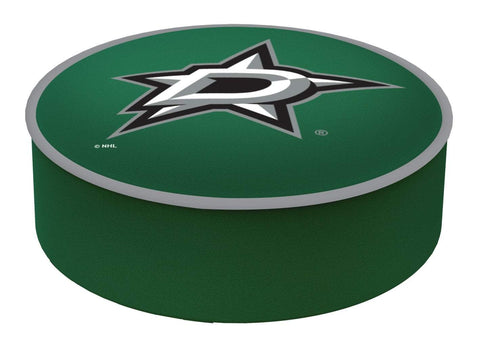 Dallas Stars HBS Green Vinyl Elastic Slip Over Bar Stool Seat Cushion Cover