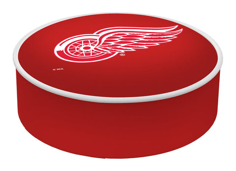 Detroit Red Wings HBS Red Vinyl Elastic Slip Over Bar Stool Seat Cushion Cover