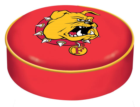 Ferris State Bulldogs HBS Red Vinyl Slip Over Bar Stool Seat Cushion Cover
