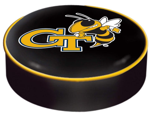 Georgia Tech Yellow Jackets HBS Black Slip Over Bar Stool Seat Cushion Cover