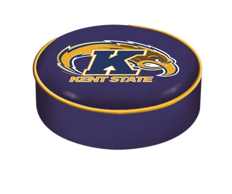Kent State Golden Flashes HBS Blue Vinyl Slip Over Bar Stool Seat Cushion Cover - Sporting Up