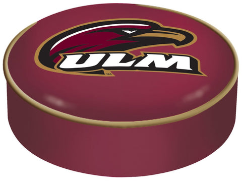 Shop ULM Warhawks HBS Maroon Vinyl Elastic Slip Over Bar Stool Seat Cushion Cover - Sporting Up