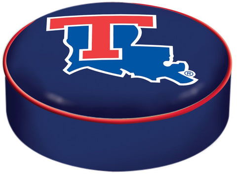 Shop Louisiana Tech Bulldogs HBS Black Vinyl Slip Over Bar Stool Seat Cushion Cover - Sporting Up