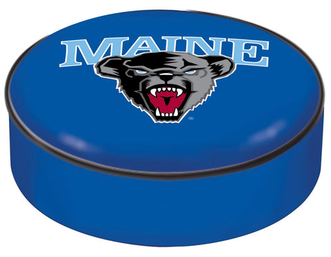 Maine Black Bears HBS Blue Vinyl Elastic Slip Over Bar Stool Seat Cushion Cover