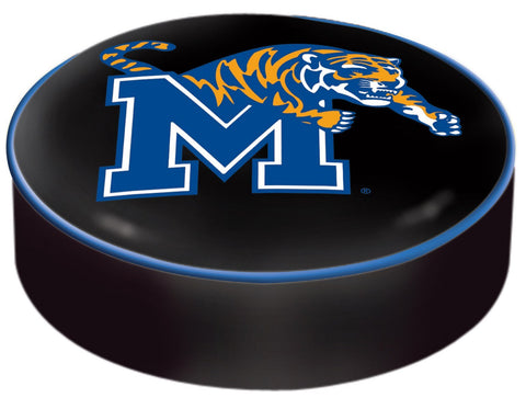 Memphis Tigers HBS Black Vinyl Elastic Slip Over Bar Stool Seat Cushion Cover - Sporting Up
