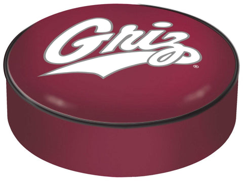 Montana Grizzlies HBS Red Vinyl Elastic Slip Over Bar Stool Seat Cushion Cover - Sporting Up