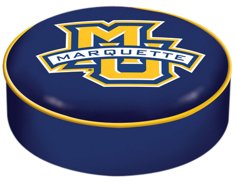 Marquette Golden Eagles HBS Blue Vinyl Slip Over Bar Stool Seat Cushion Cover