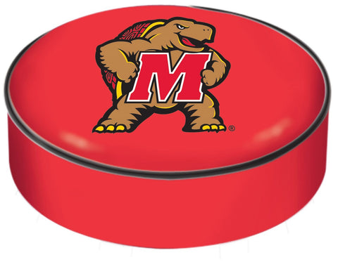 Maryland Terrapins HBS Red Vinyl Elastic Slip Over Bar Stool Seat Cushion Cover