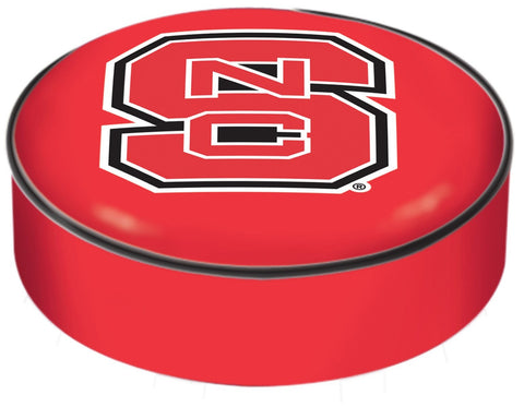 NC State Wolpack HBS Red Vinyl Elastic Slip Over Bar Stool Seat Cushion Cover