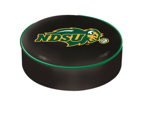 Shop North Dakota State Bison HBS Black Vinyl Slip Over Bar Stool Seat Cushion Cover - Sporting Up